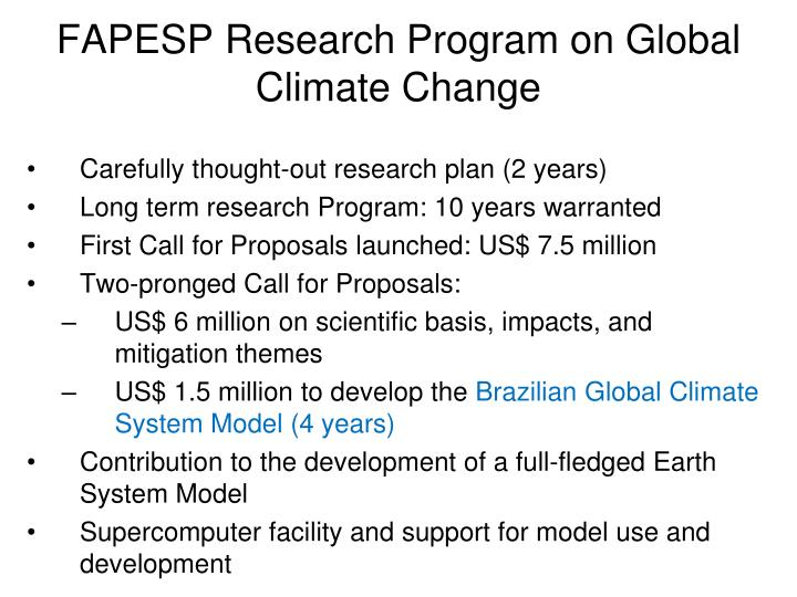 FAPESP Research Program on Global Climate Change