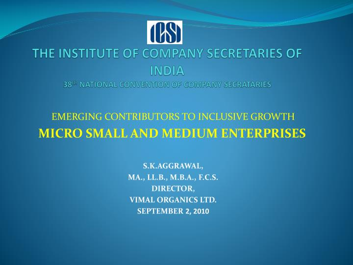the institute of company secretaries of india 38 th national convention of company secrataries