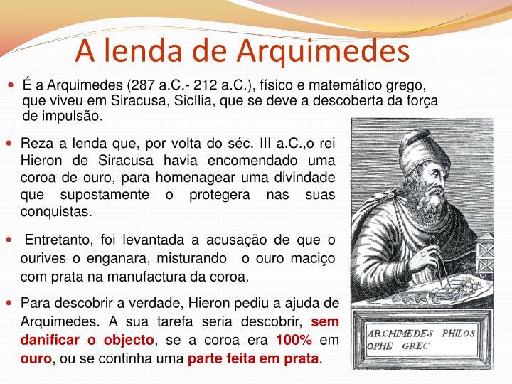 A lenda de Arquimedes