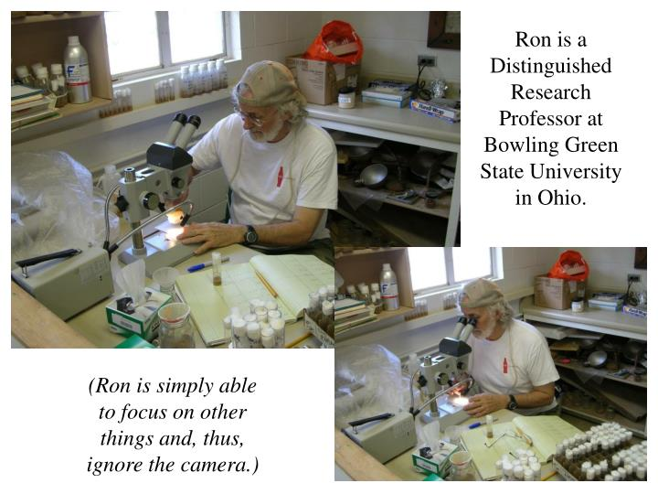 Ron is a Distinguished Research Professor at Bowling Green State University in Ohio.