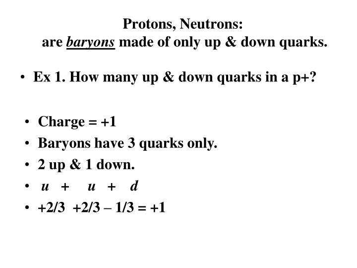 Protons, Neutrons: