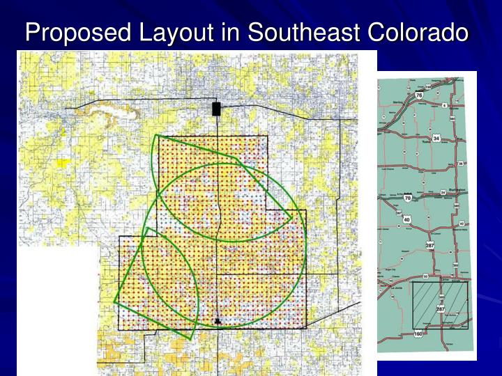 Proposed Layout in Southeast Colorado