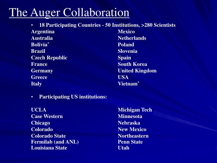 The Auger Collaboration