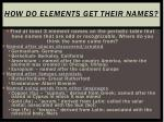 how do elements get their names