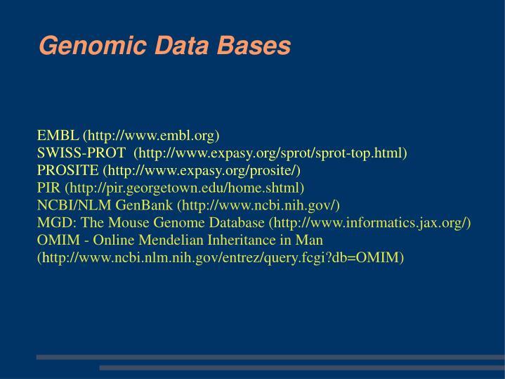 EMBL (http://www.embl.org)