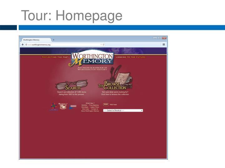 Tour: Homepage