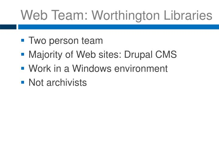 Web Team: