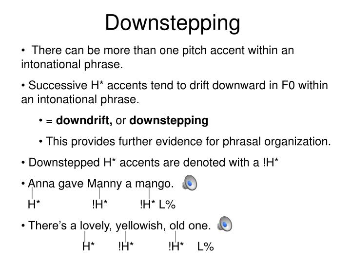 Downstepping