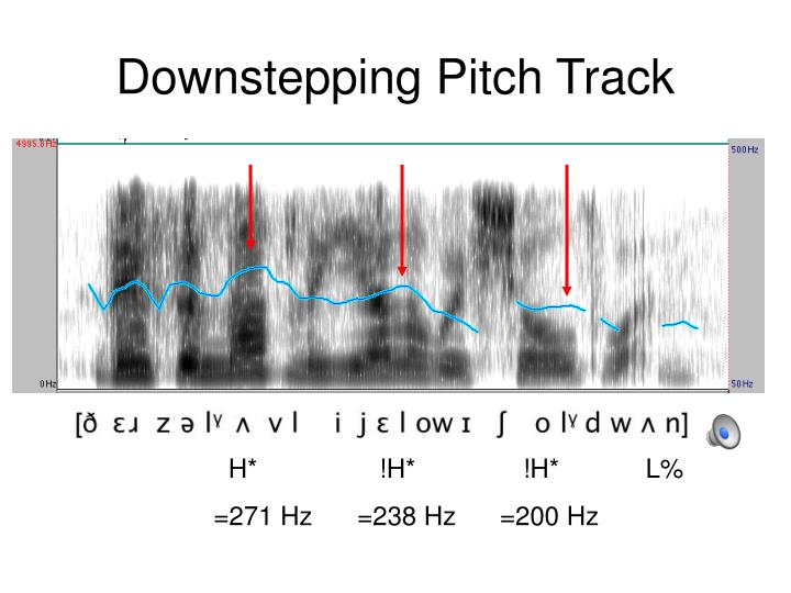 Downstepping Pitch Track
