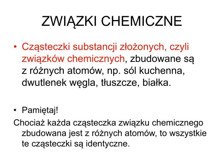 ZWIĄZKI CHEMICZNE