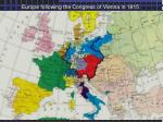 europe following the congress of vienna in 1815
