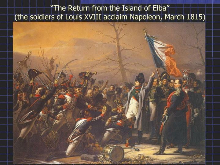"""The Return from the Island of Elba"""
