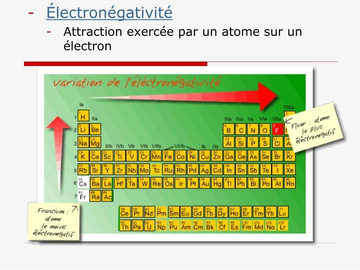 Électronégativité