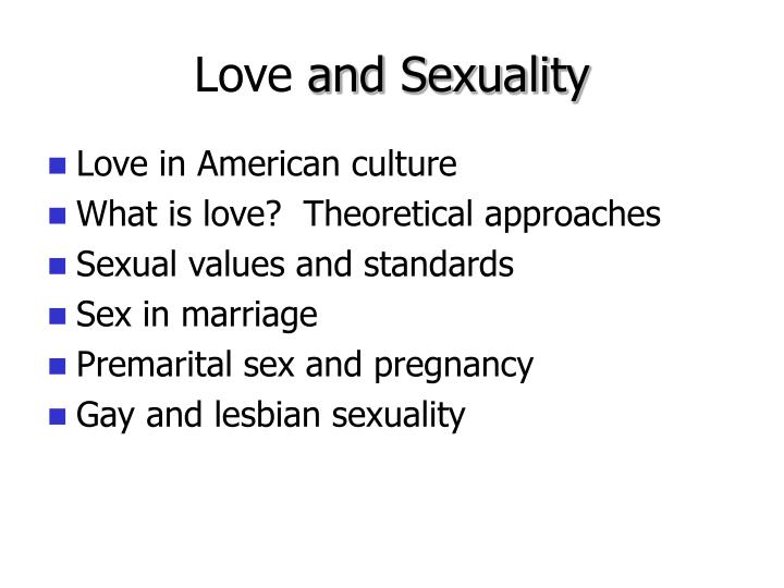 Love and sexuality