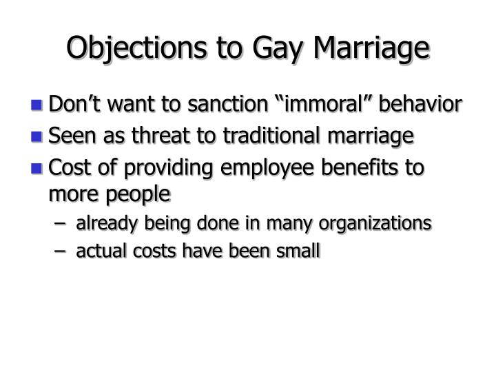 Objections to Gay Marriage