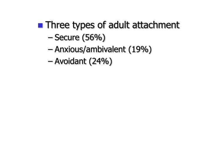 Three types of adult attachment