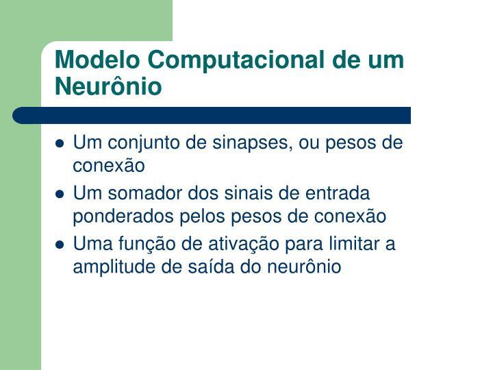 Modelo Computacional de um Neurônio