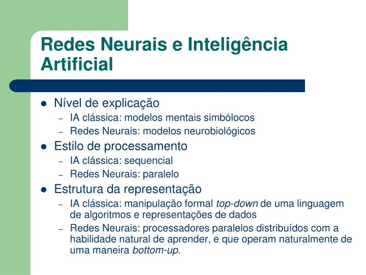 Redes Neurais e Inteligência Artificial