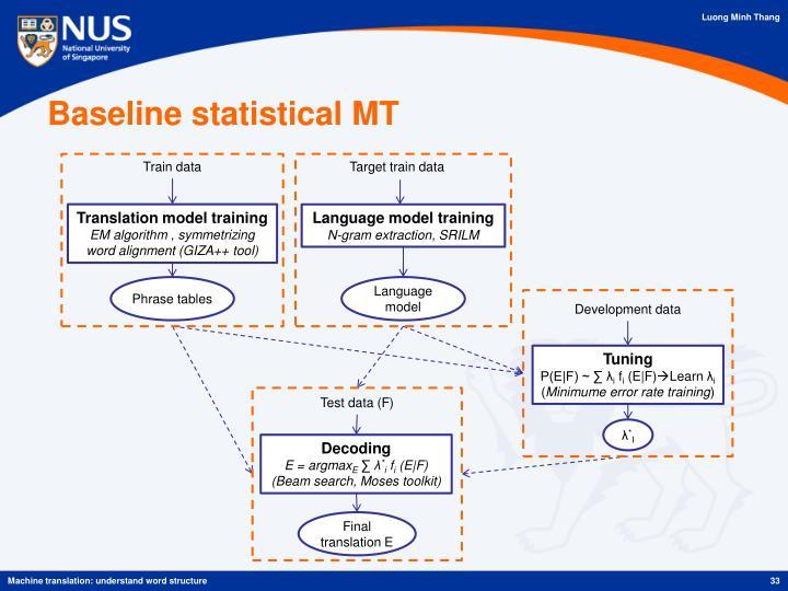 Baseline statistical MT