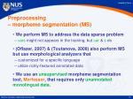 preprocessing morpheme segmentation ms
