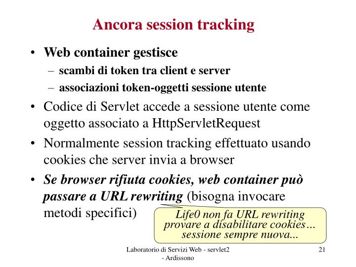 Ancora session tracking