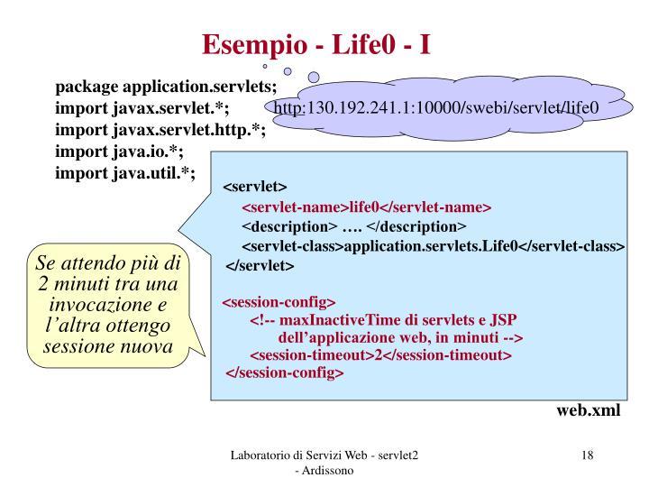 Esempio - Life0 - I
