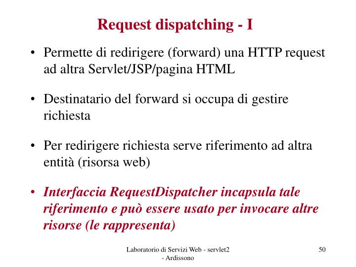 Request dispatching - I