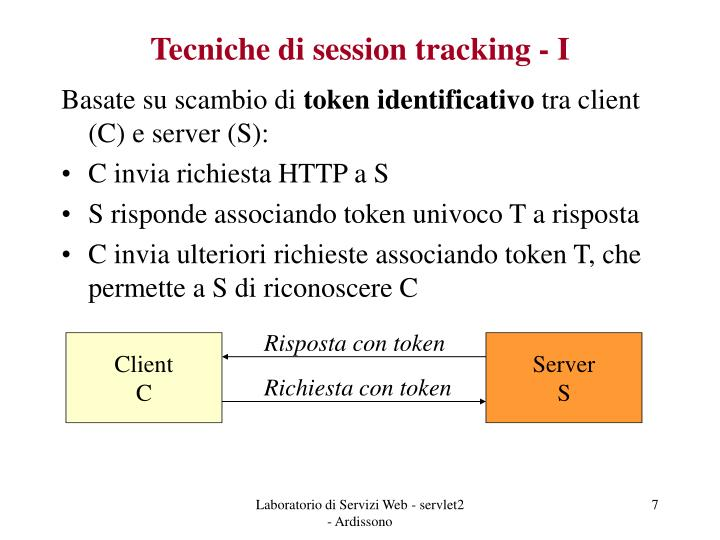 Tecniche di session tracking - I
