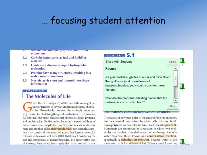 … focusing student attention