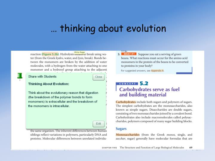 … thinking about evolution