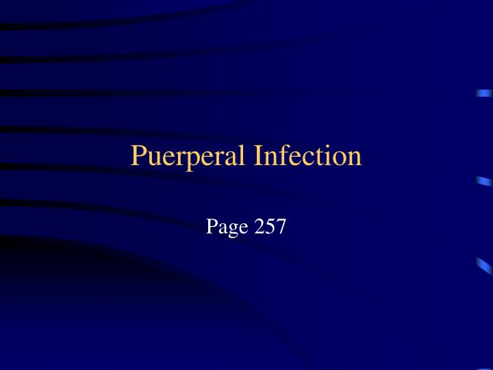 Puerperal Infection