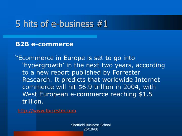 5 hits of e-business #1
