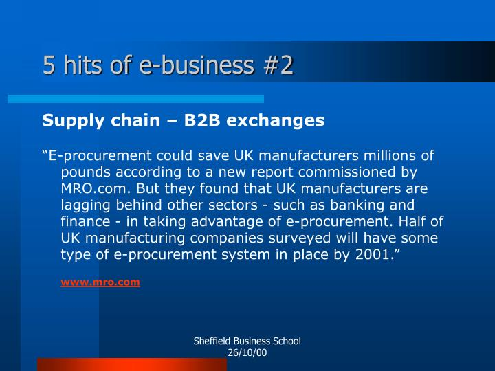 5 hits of e-business #2