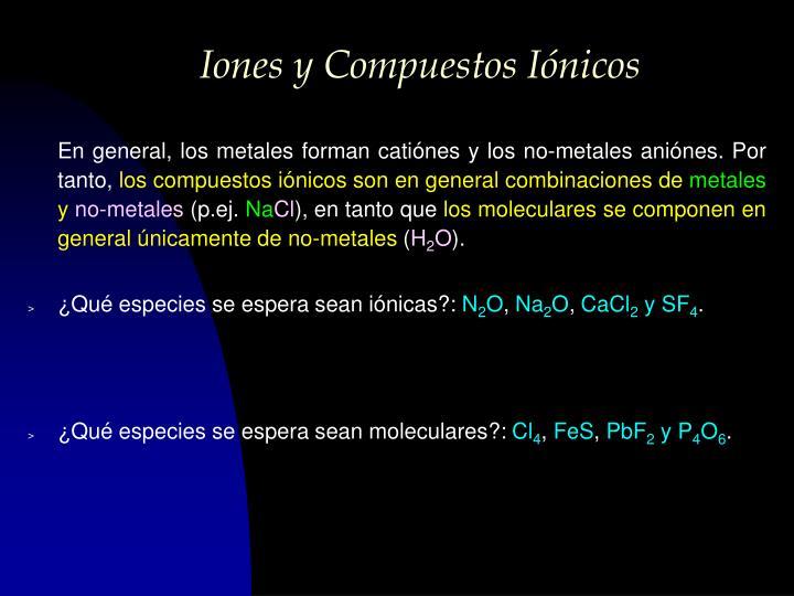 Iones y Compuestos Iónicos