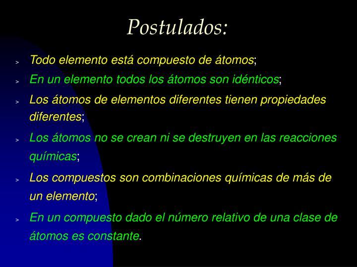Postulados: