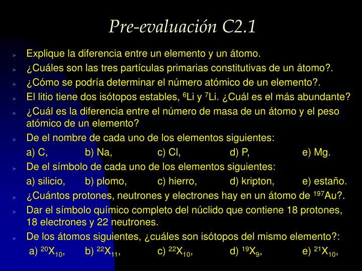 Pre-evaluación C2.1