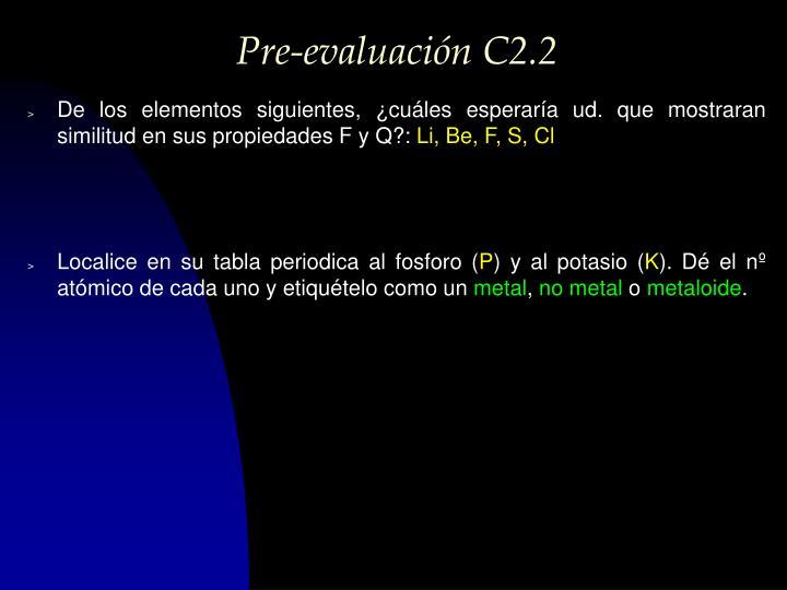 Pre-evaluación C2.2