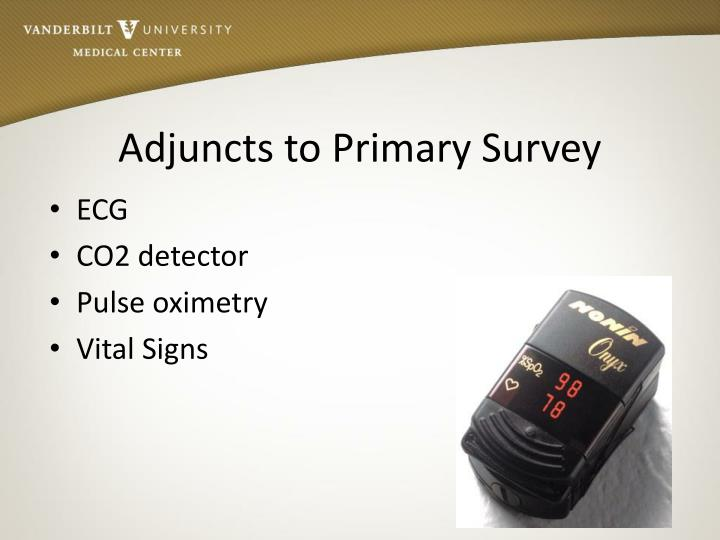 Adjuncts to Primary Survey