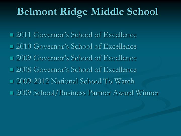 Belmont Ridge Middle School