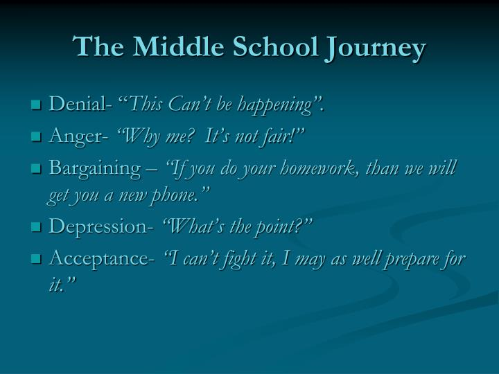 The Middle School Journey