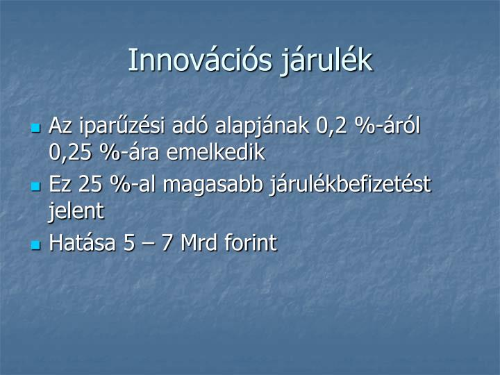 Innovációs járulék