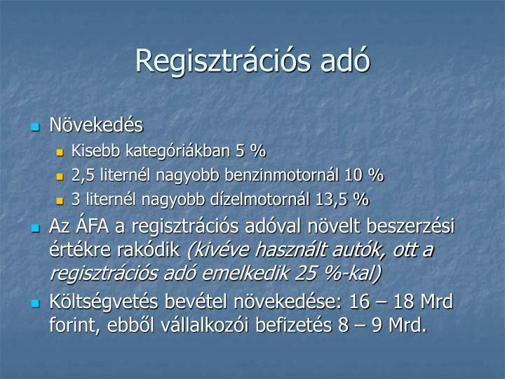 Regisztrációs adó