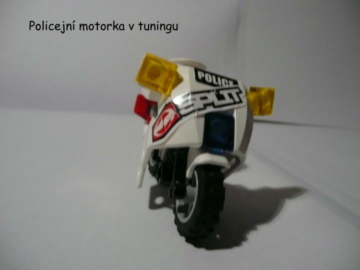 Policejní motorka v
