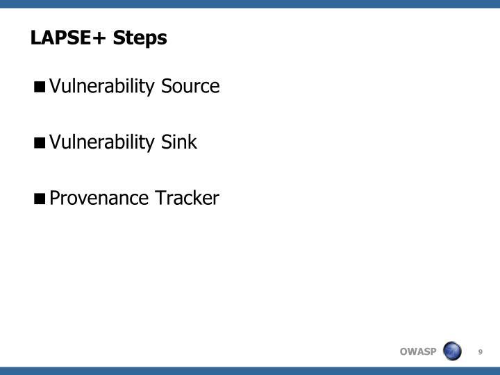 LAPSE+ Steps