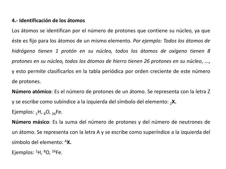 4.- Identificacin de los tomos
