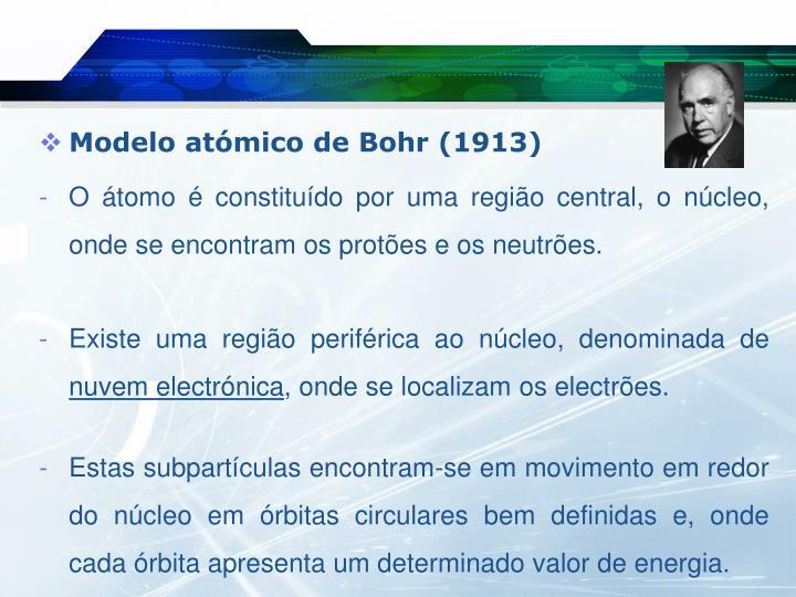 Modelo atómico de Bohr (1913)