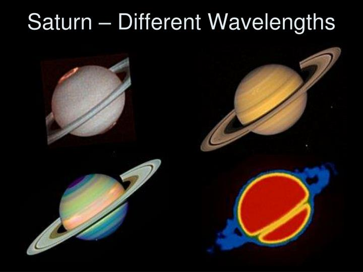 Saturn – Different Wavelengths