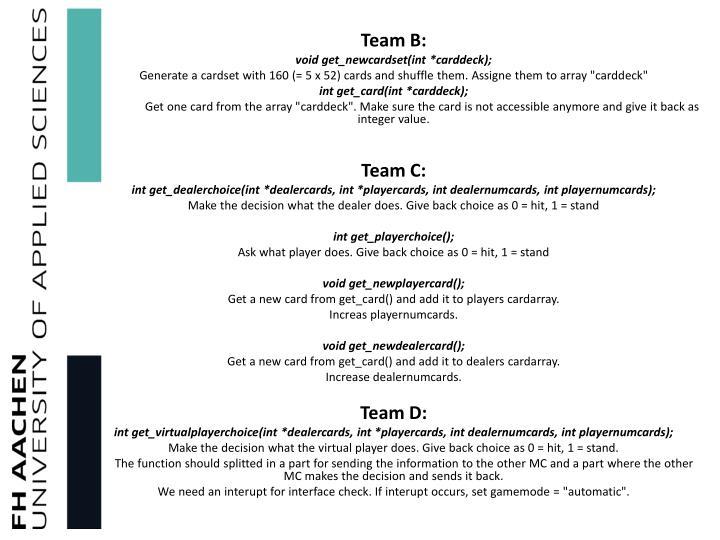 Team B:
