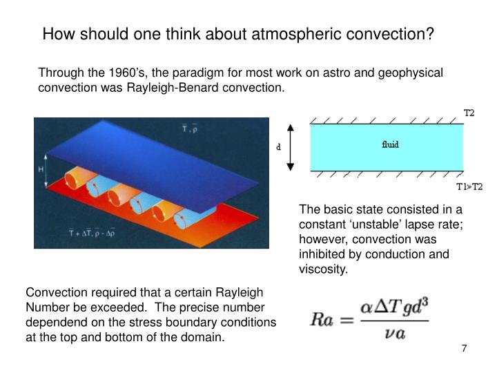 How should one think about atmospheric convection?