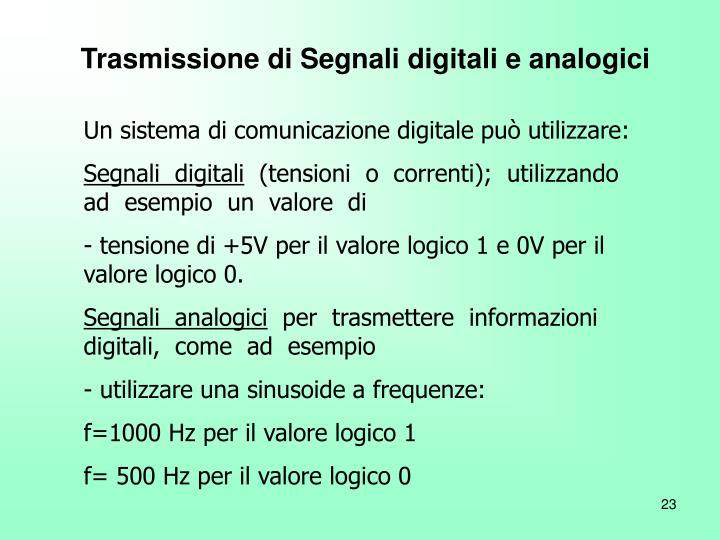 Trasmissione di Segnali digitali e analogici